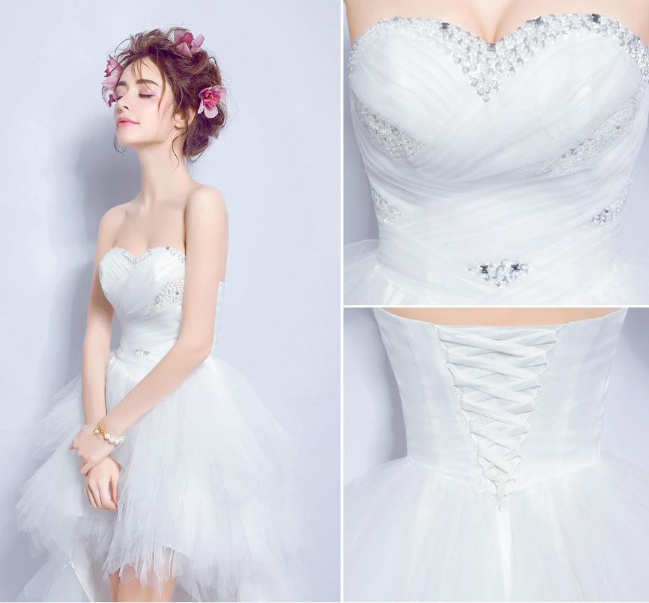 robe mariage bustier coeur à paillette dos laçage