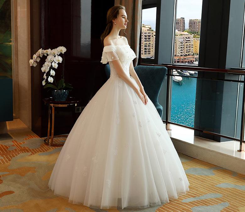 allure robe de mariage bustier à volants
