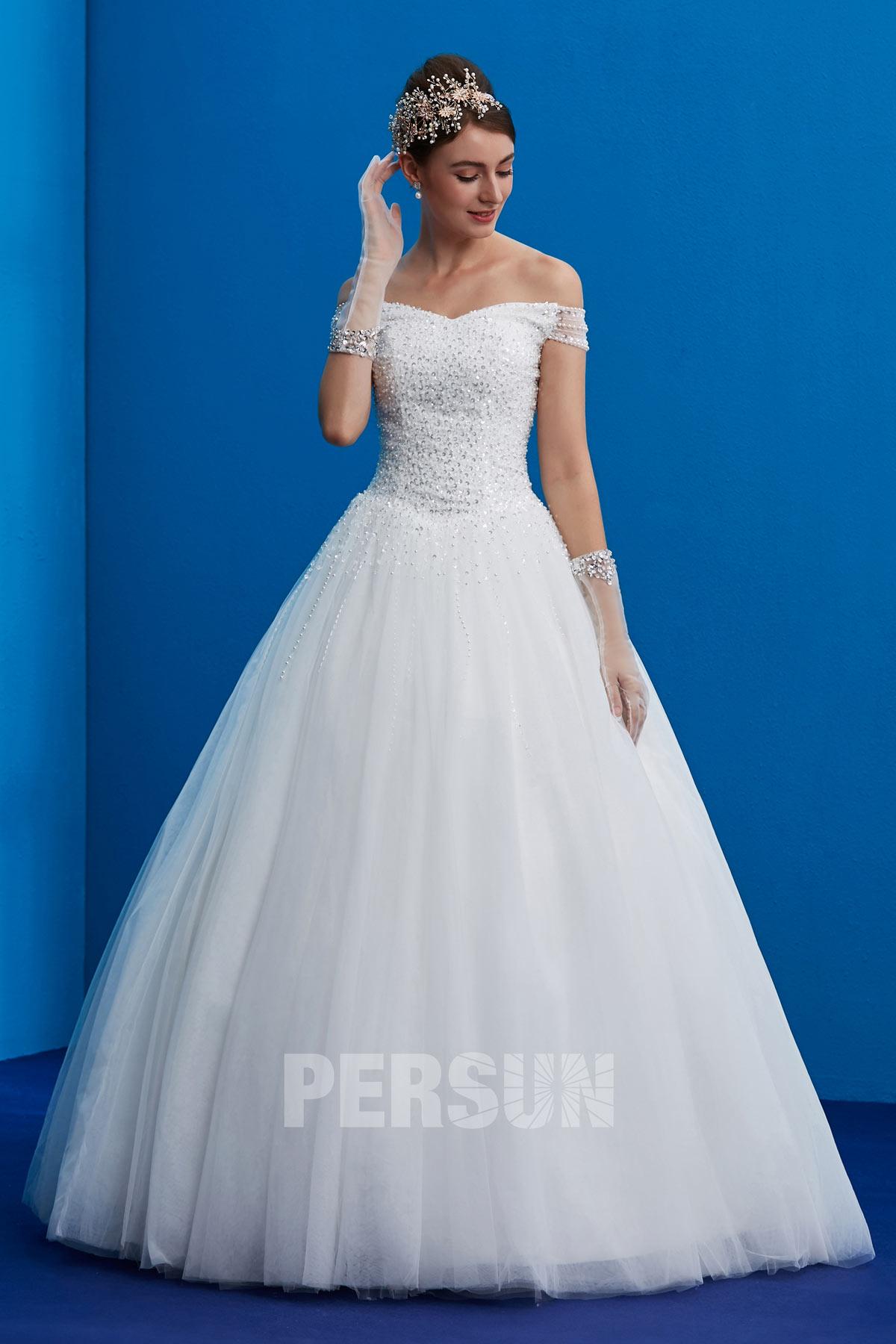 robe mariée princesse épaule dénudé