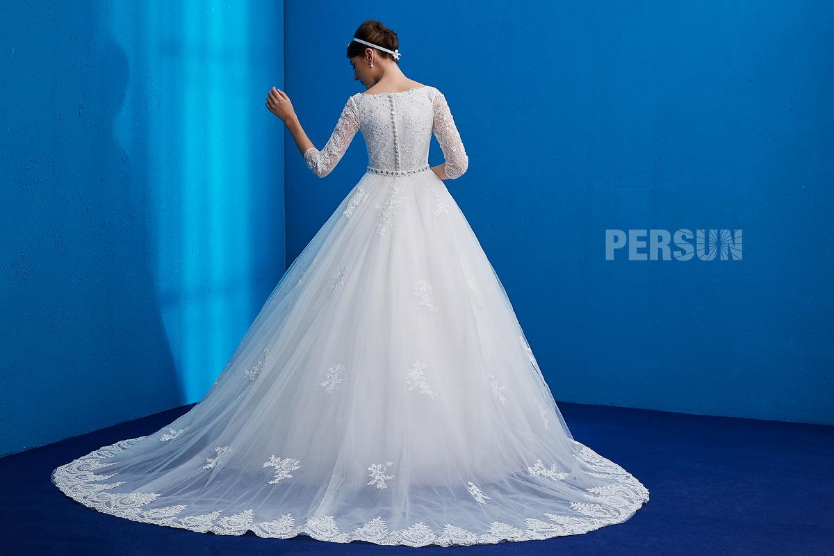 robe de mariée 2019 avec une traîne amovible