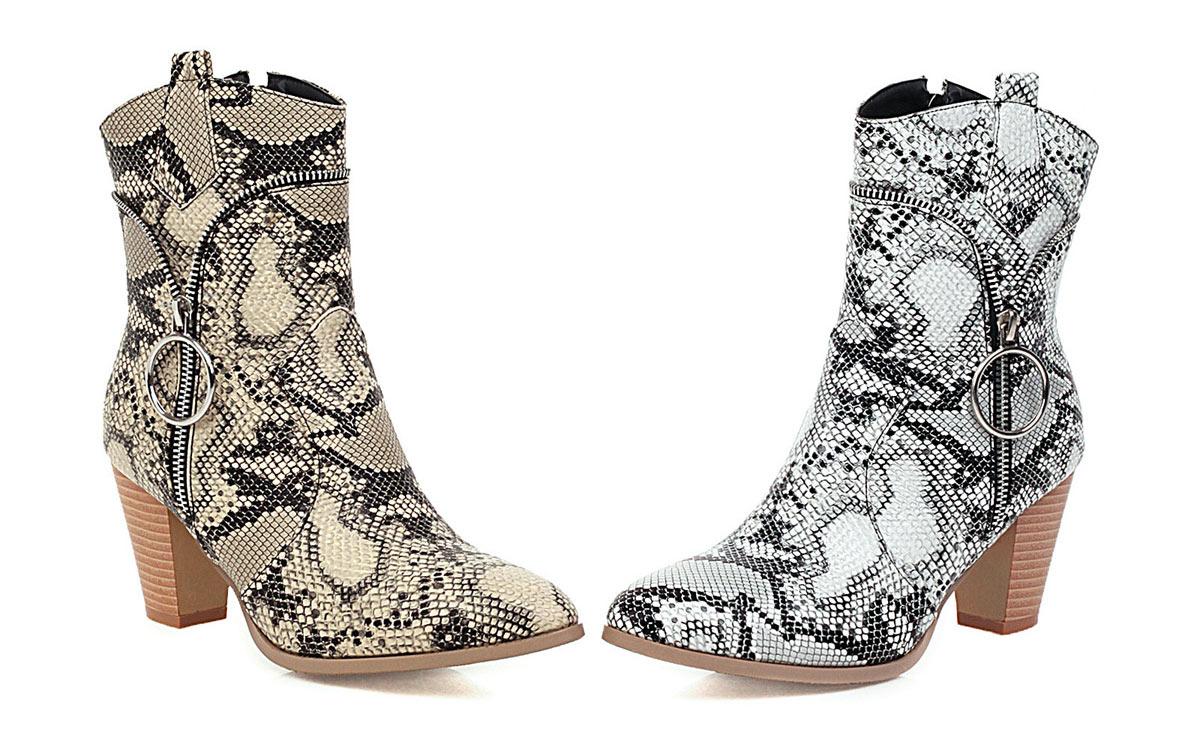low boots femme zippé pour rentrée de l'école