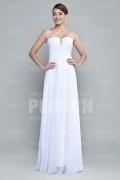 Elegantes A-Linie weißes Bodenlanges Abendkleider aus Chiffon