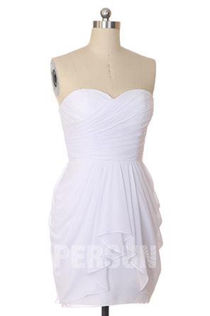 Petite robe bustier cœur pour demoiselle d'honneur