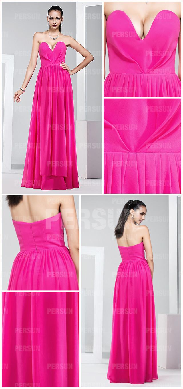 robe fuchsia longue pour soirée
