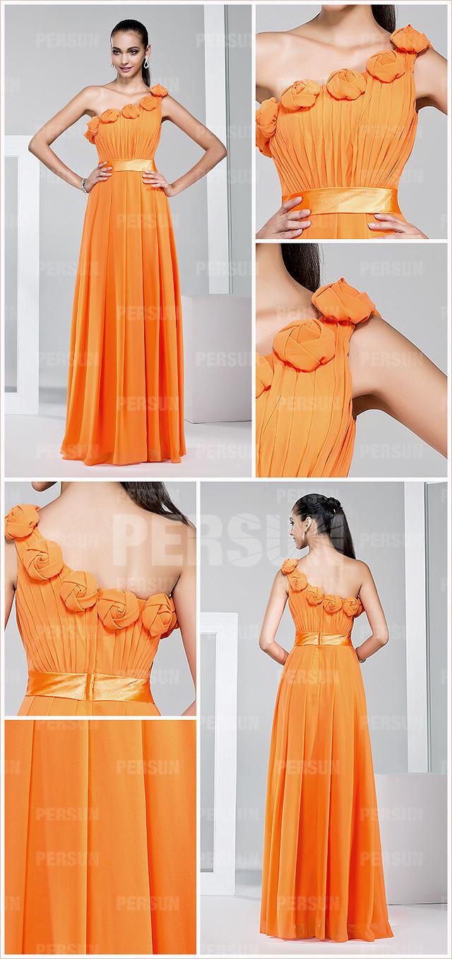 chic robe orange pour mariage