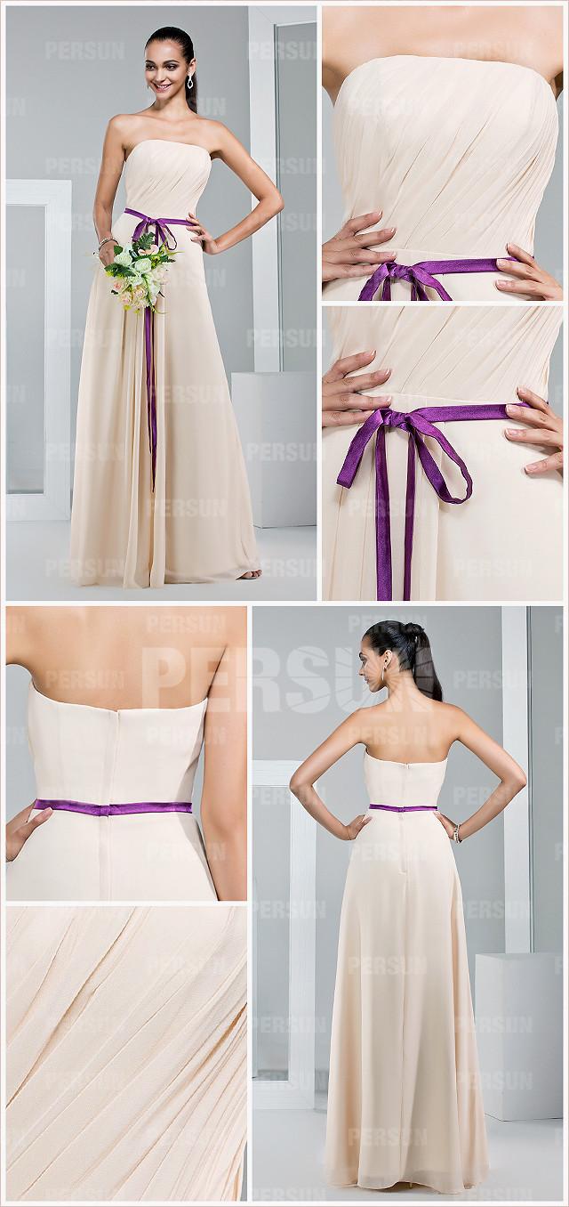 robe bustier couleur chair pour invitée mariage