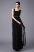 Elégante robe noire de soirée en tulle
