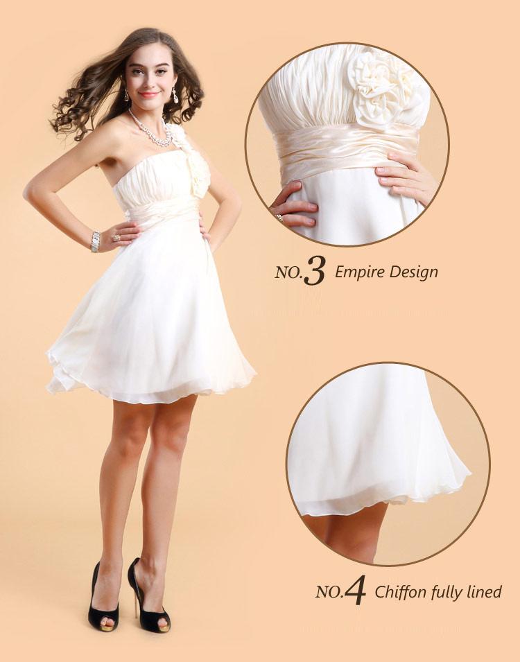 robe courte cocktail pour mariage asymétrique