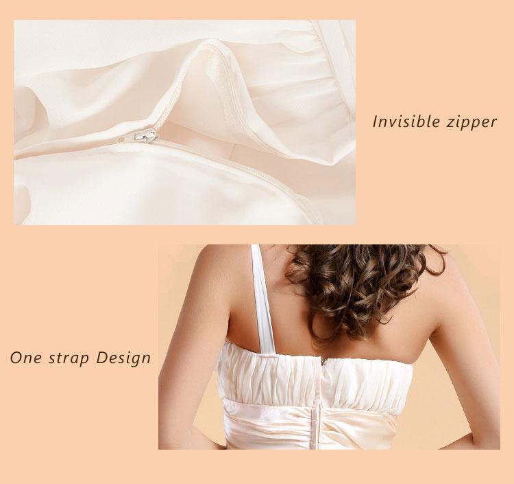 robe asymétrique dos nu avec zip