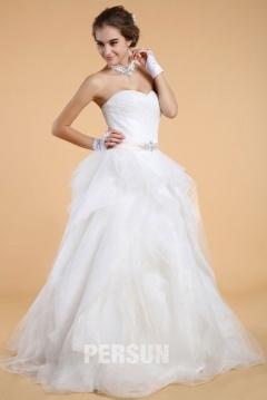Robe de mariée bustier avec jupe romantique