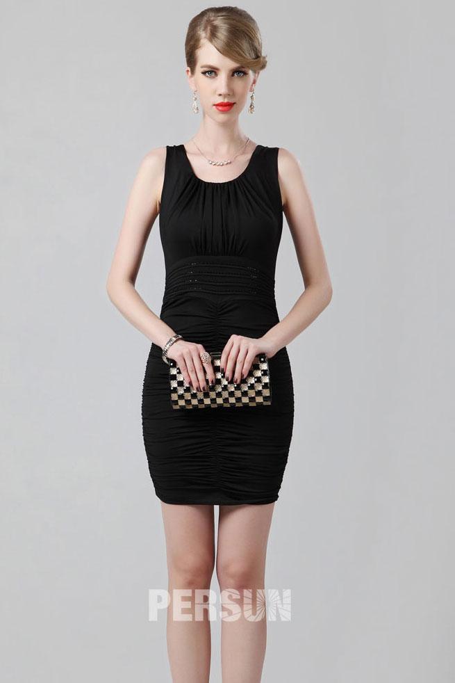 965b12755e9 Mini robe noire pour cocktail et soirée - Persun.fr
