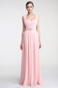 Persun Floor length A line Straps Chiffon Evening Dress