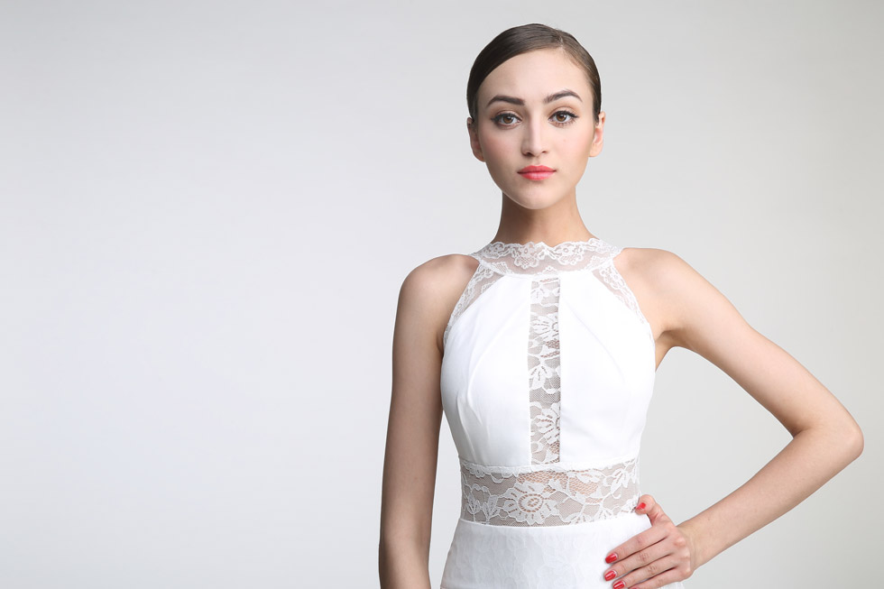 robe de mariée sexy bimatière