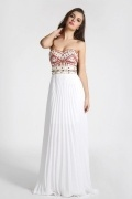 Gorgeous Sheath Chiffon Sweetheart White Long Formal Dress