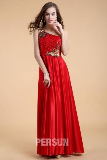 Robe longue à encolure asymétrique pour soirée & gala