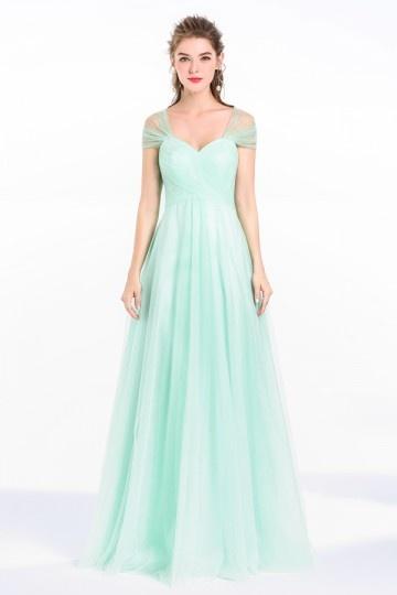 50b2203f674 Robe de soirée verte de bonne qualité -Persun.fr