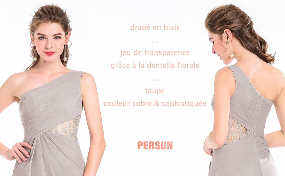 élégante robe de soirée taille appliqué en dentelle