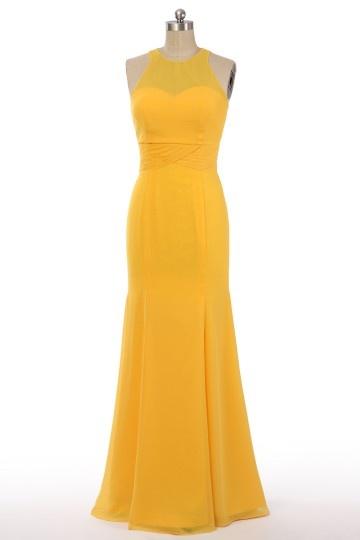 Robe sirène bleu azur pour cortège de mariage