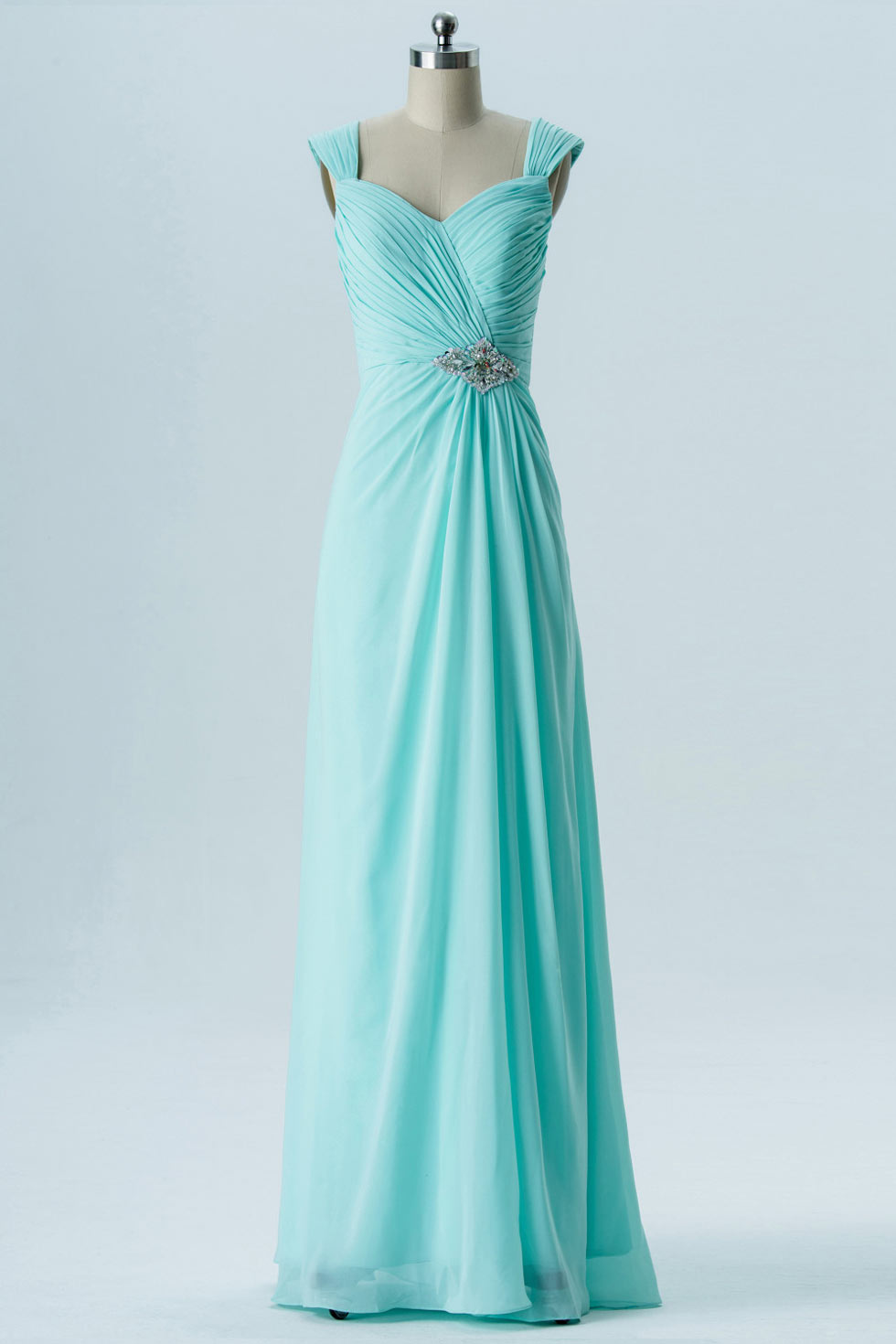 Robe bleu vert d'eau