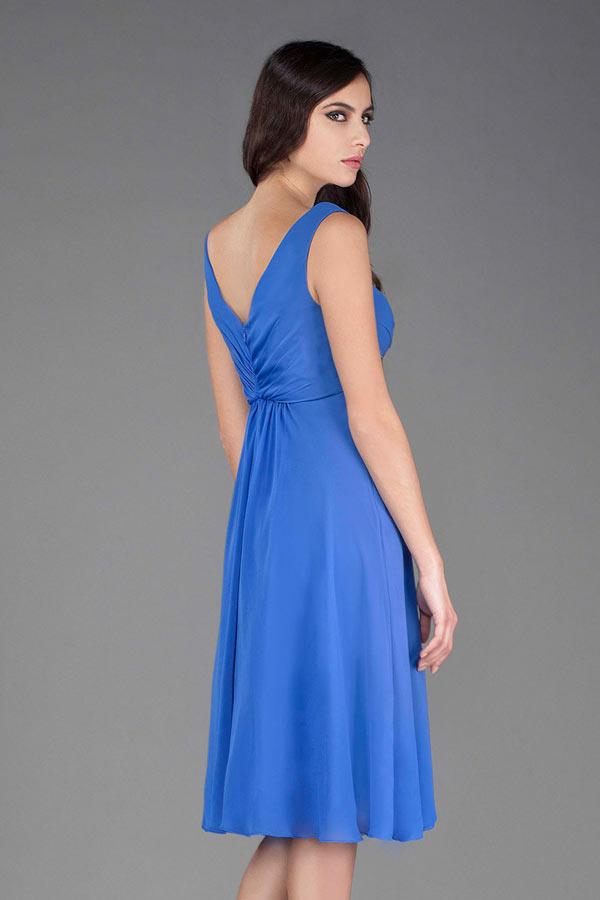 Robe soiree mariage bleue