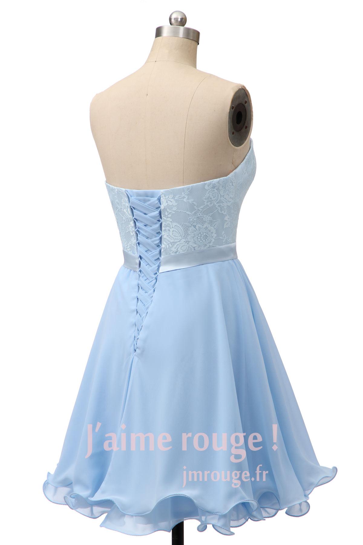 b40581f4ff961e Robe Cœur Pour Guipure Bustier Chic Soirée Dentelle Rouge F1J35lcTuK