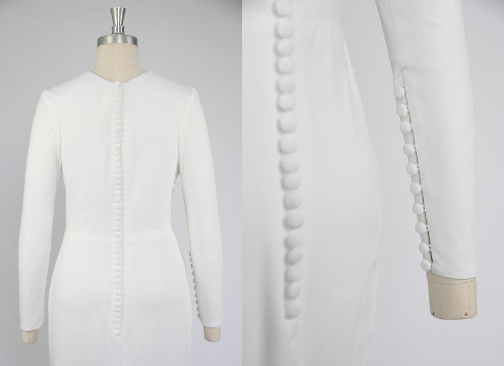 robe de mariée 2015 manche longue ornée de boutons