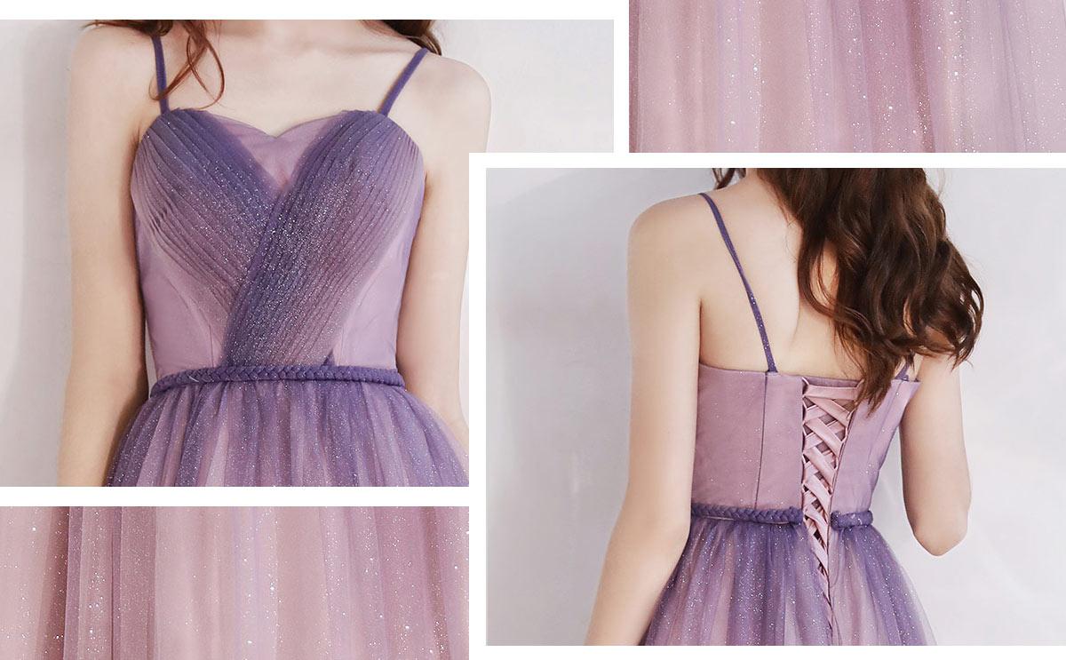 robe de soirée rose bustier plissé en paillettes
