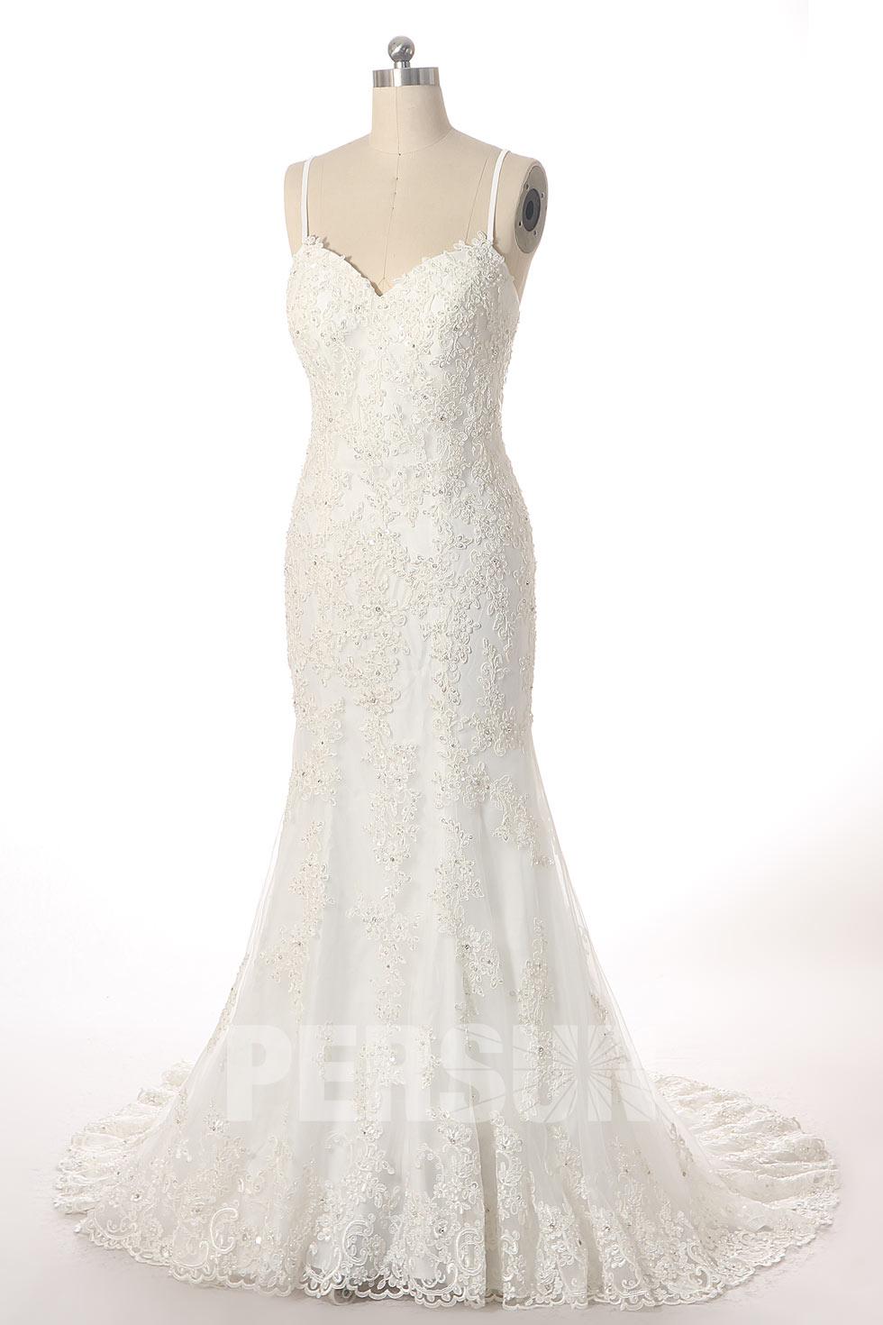 robe mariée sirène vintage dentelle dos nu 2020