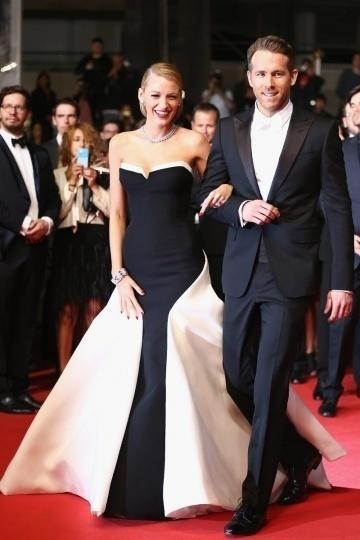 Robe noir et blanche de Blake Lively à Cannes mai 2014
