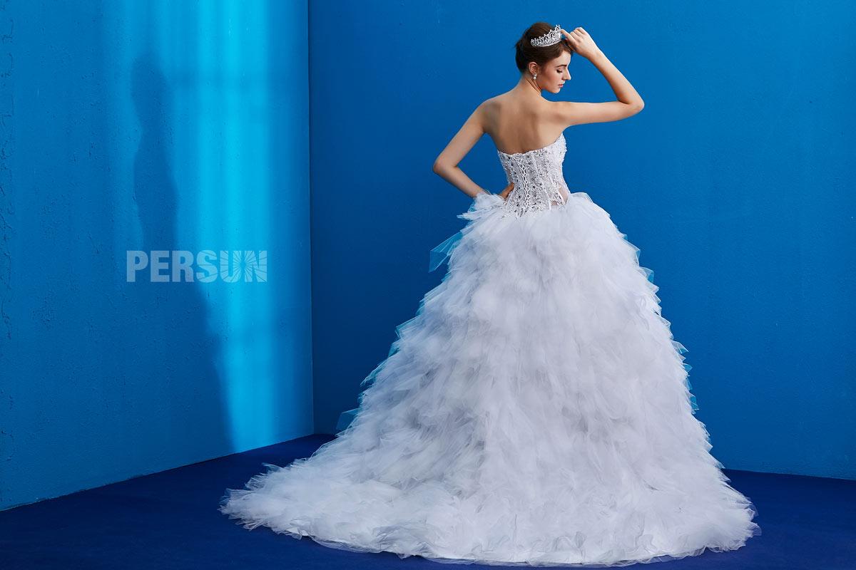 robe de mariée dos laçage vintage