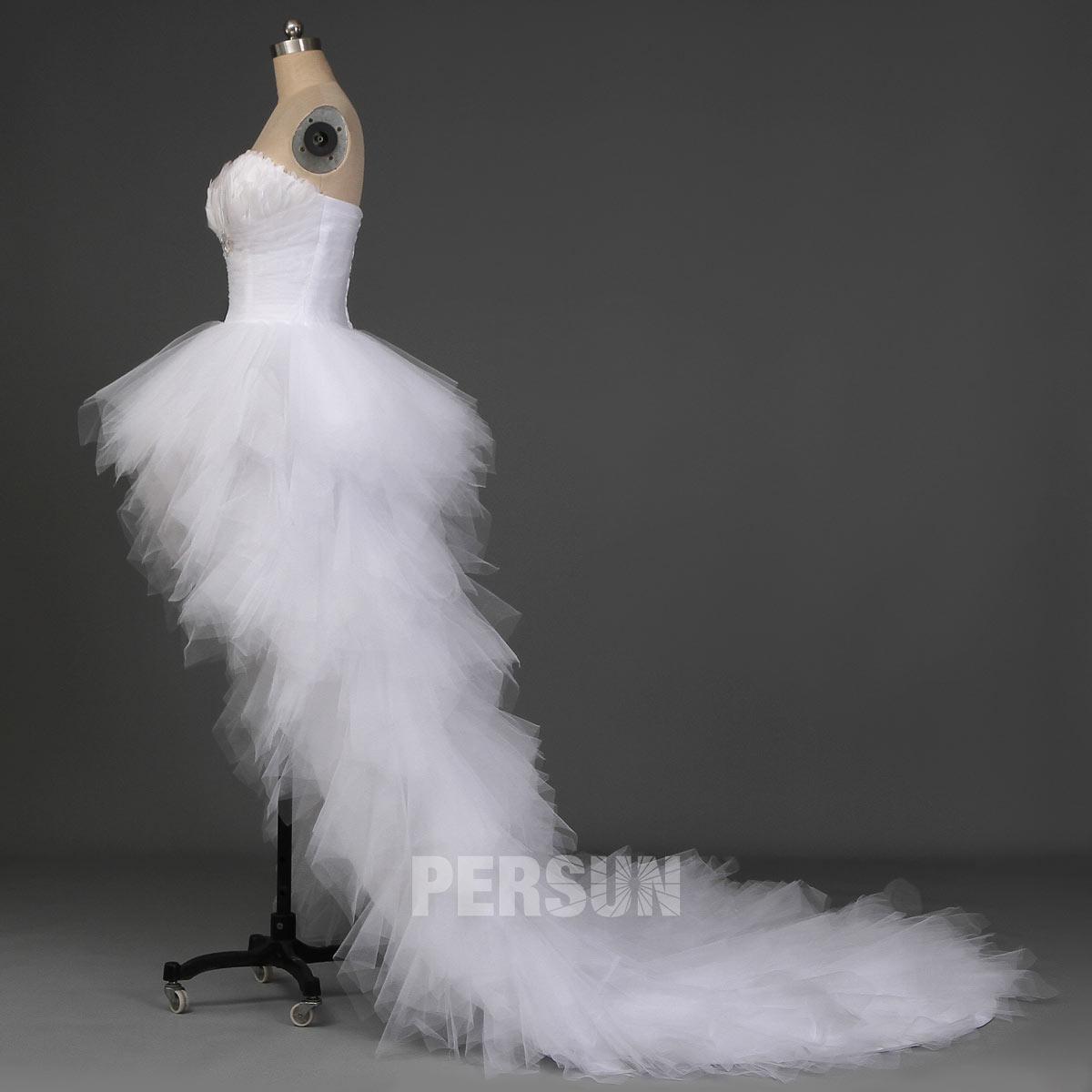 robe de mariée court devant longue derrière 2020