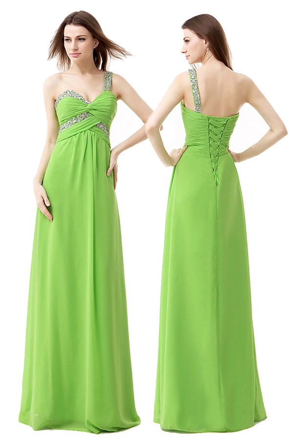 Robe cocktail verte anis