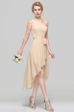 Robe chic bohème asymétrique courte devant longue derrière pour cocktail mariage