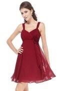 Empire-trägerloses Kleid mit Blume