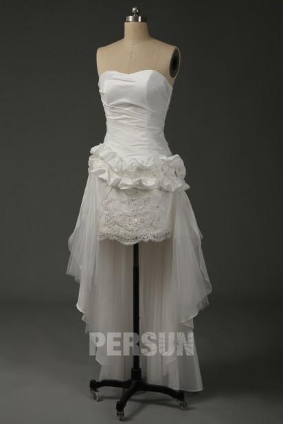 Audrey : Robe de mariée moderne jupe fourreau longue arrière