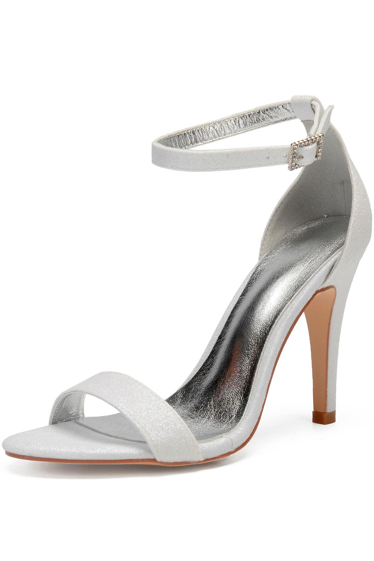 sandales de mariage en sequins à bride talon haut