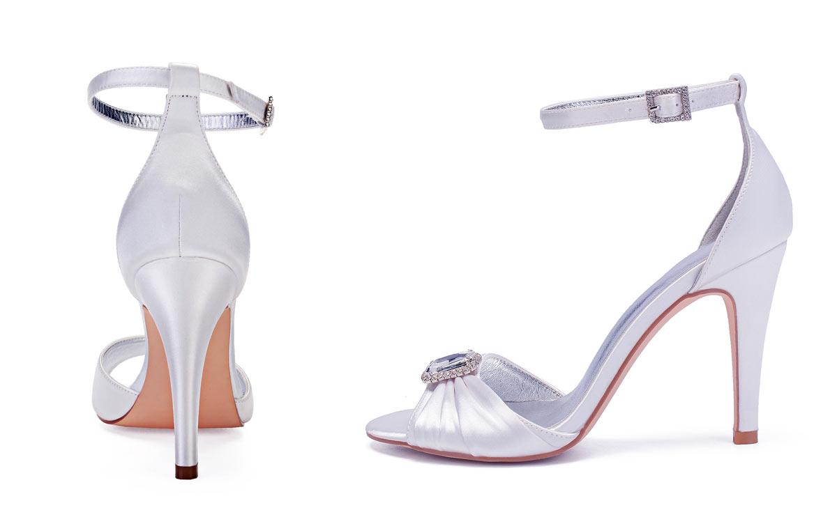 sandales femme blanches talon haut pour mariage