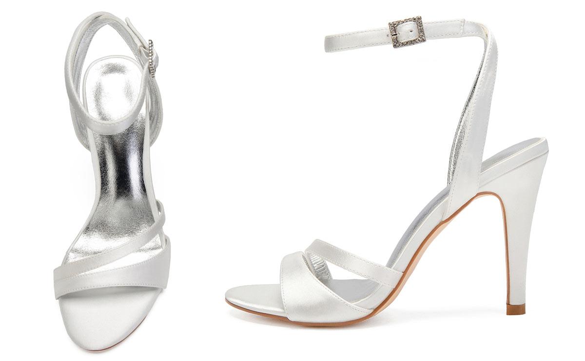idéal sandale blanc ivoire pas cher pour mariage d'été