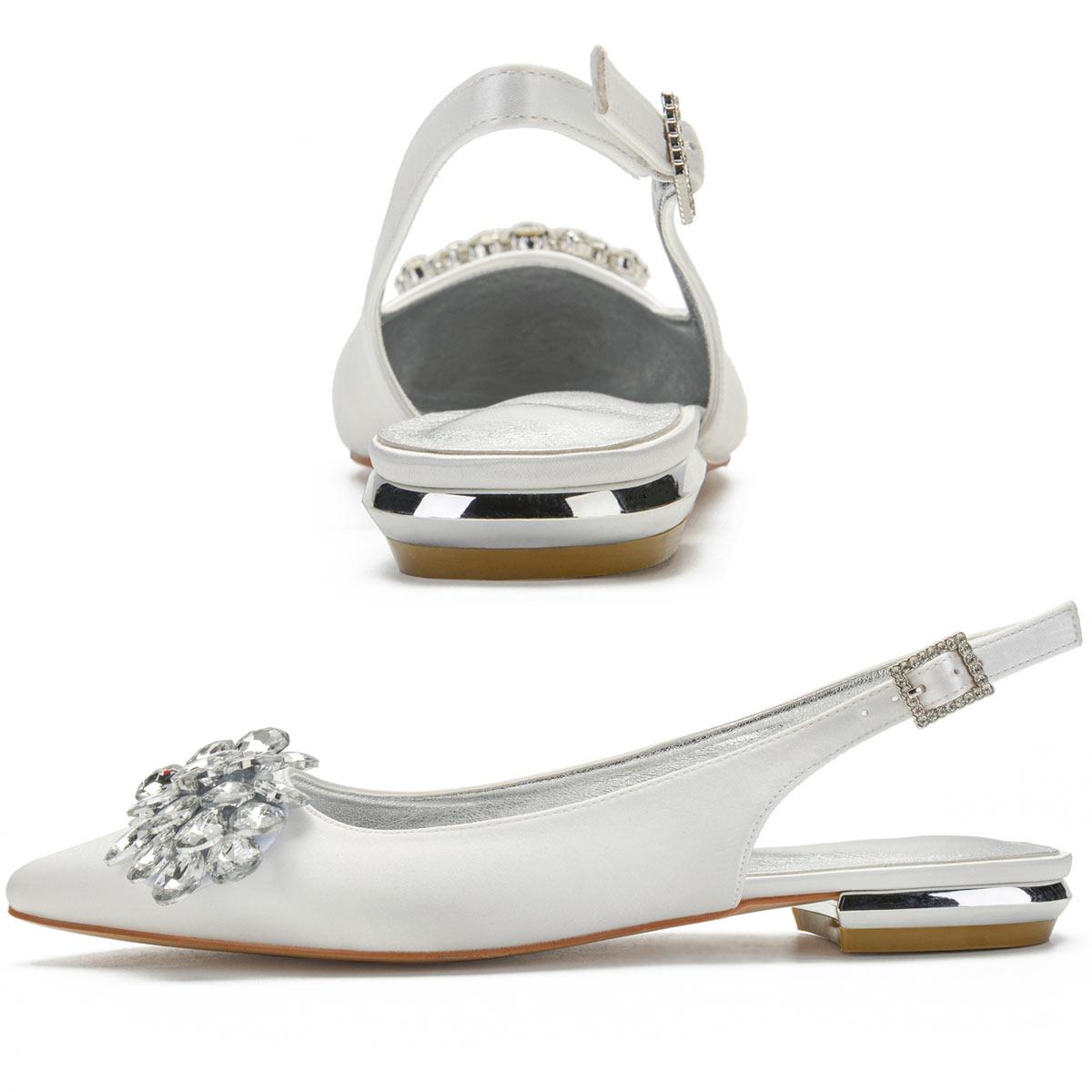 ballerine slingback ivoire pour mariée pas cher