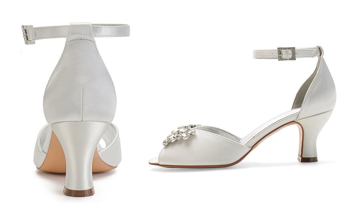 sandale pour mariage bout ouvert talon moyen