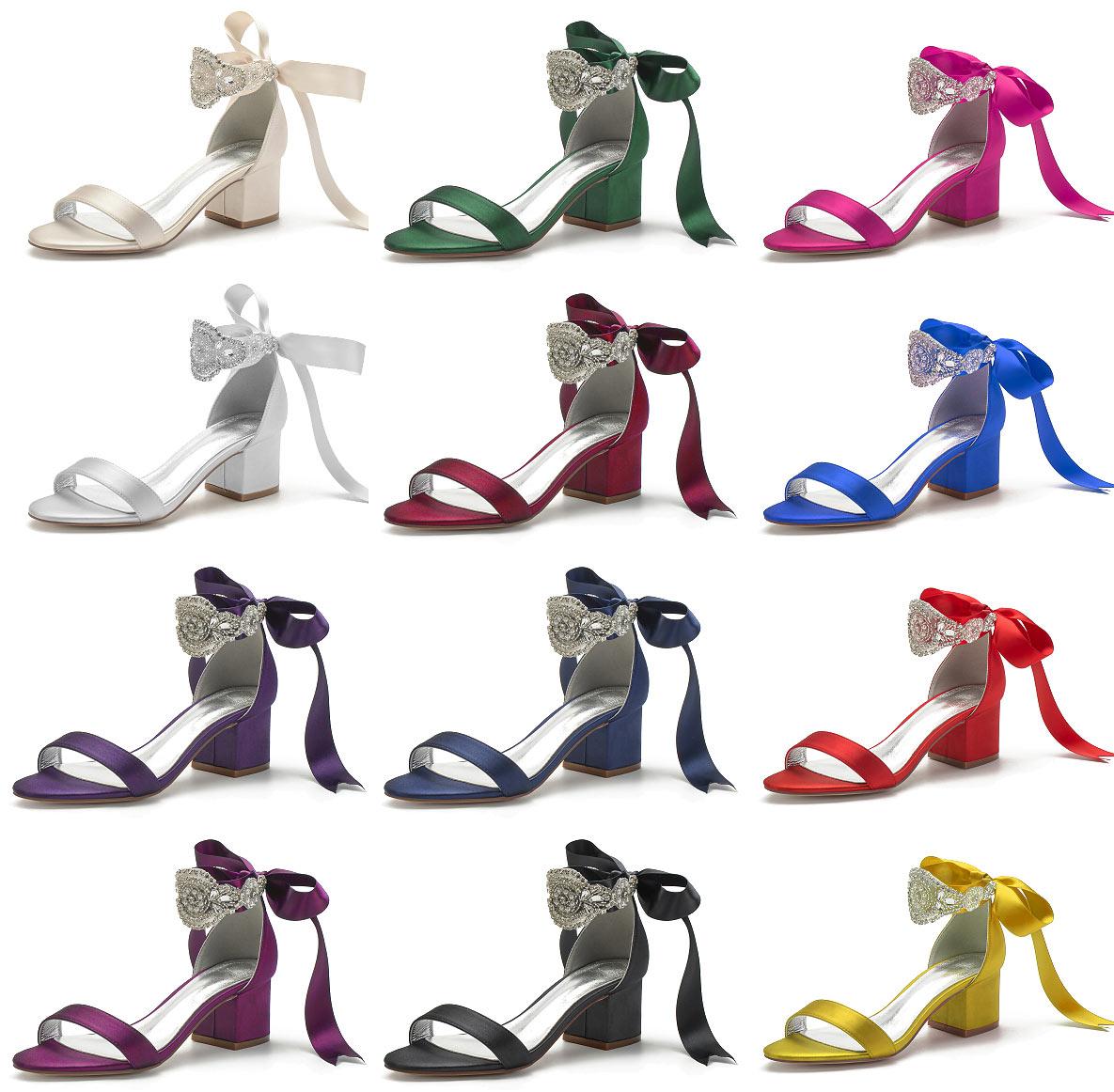 sandale talon épais pour soirée mariage