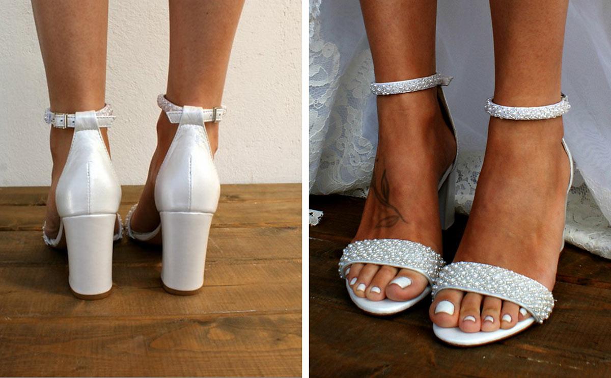 sandales de mariage à talon 8 cm