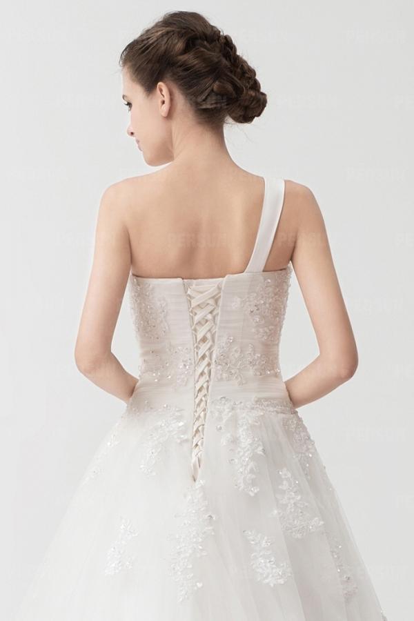 robe de mari e 2014 seule paule empire dentelle blanche. Black Bedroom Furniture Sets. Home Design Ideas