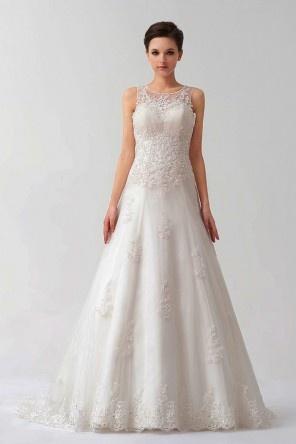 Robe de mariée dentelle blanche bustier avec bretelles détachables