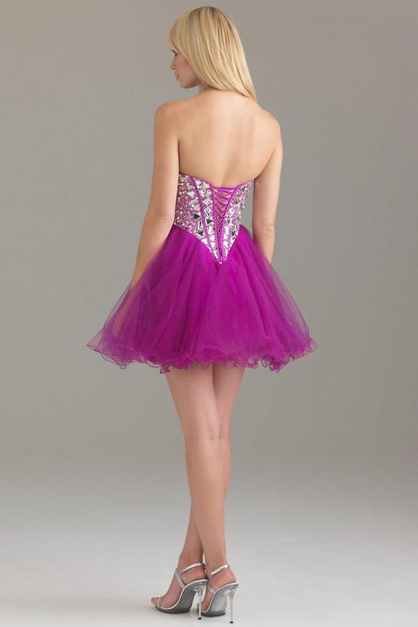 robe tutu violet