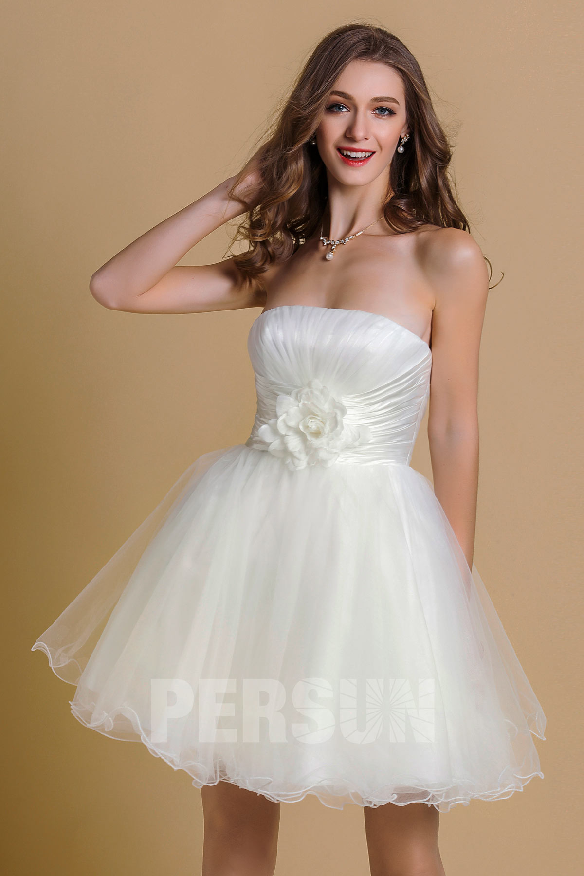 Robe cocktail tulle courte