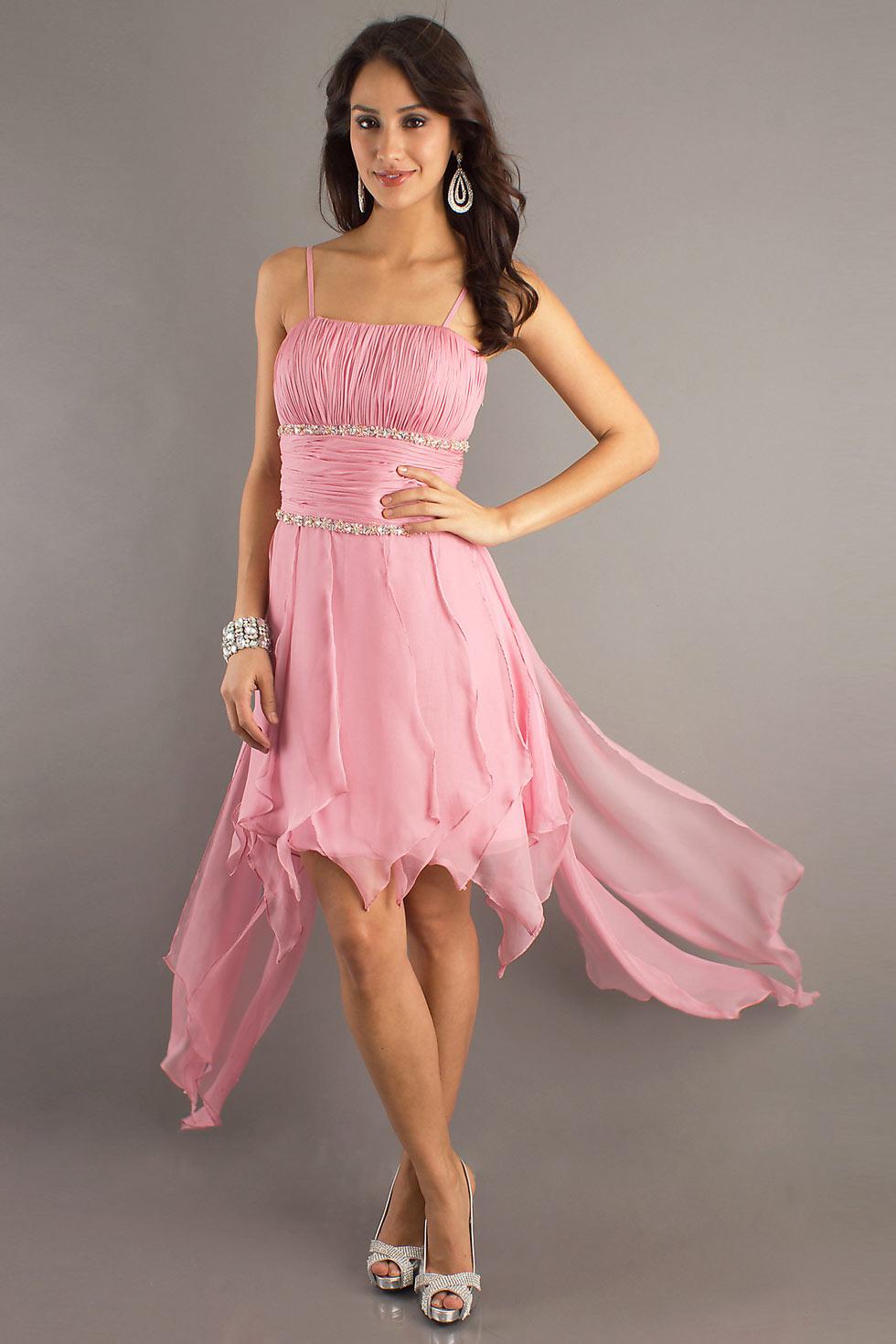robe rose pale pas cher plissée en ligne