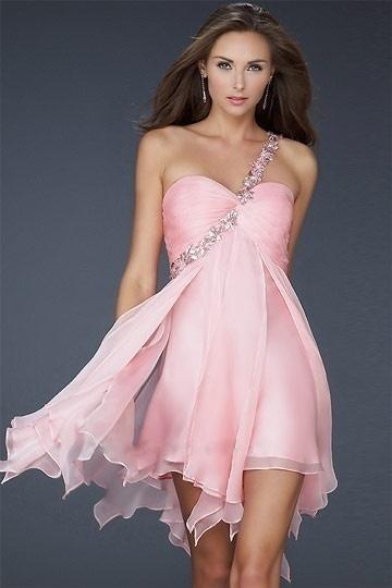 Robe de soiree courte rose pas cher