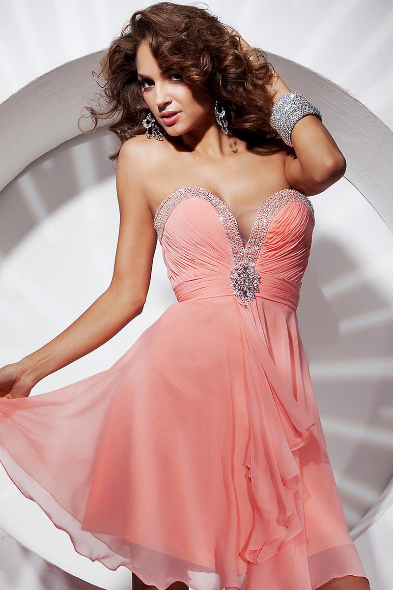 robe bustier rose sexy en mousseline