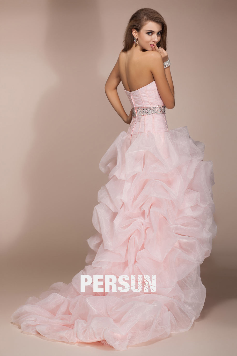 robe corset à bustier coeur en rose